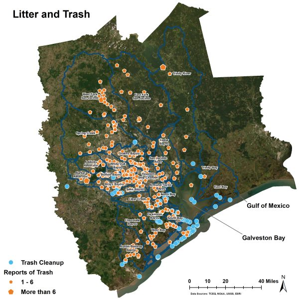 Litter and Trash Locations and Cleanups